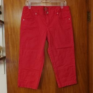 3/$30 Merona red, cropped, super soft pants